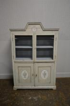 French Painted Cupboard 66 3/4