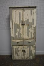 Painted Midwestern Cupboard 82 3/4