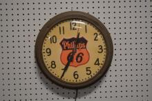 Phillips 66 Clock 14 1/4