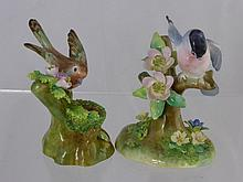 Crown Staffordshire, a collection of bird models,