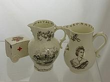 Two Royal Worcester Commemorative Milk Jugs, toget
