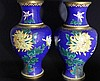 Pair of Chinese 20th Century Cloisonné Vases, the