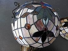 Stained Glass Tiffany Style Ball Light and Chain,