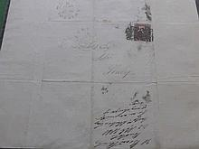 A Collection of QV Stamps on Cover, seventeen ite