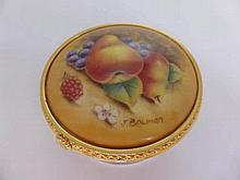 J Bowman Royal Worcester Pill box No. 202, the li
