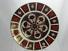 Two Large Royal Crown Derby Plates, Imari Pattern