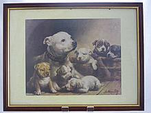 Anthony Pitt Advertising Print depicting a family