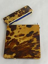 A Victorian Tortoiseshell Card Case together with
