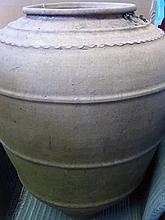 A Large Vintage Terracotta Portuguese Olive Oil A