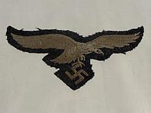 A German Nazi Luftwaffe Cloth Uniform Badge, toge