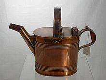 A Copper Hot Water Can, (from the Edwardian perio