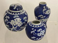 Chinese Blue and White Porcelain, including two g