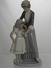 A Lladro Figure of a Mother and Child, impressed