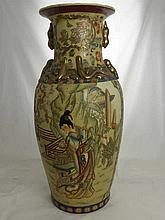 Two Japanese Satsuma Vases depicting court life,