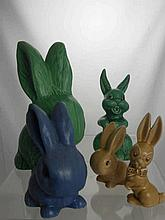 A Quantity of Sylvac Pottery including ten bunnie
