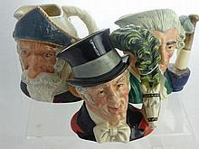 Royal Doulton Character Jugs, including The Ringm
