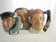 Royal Doulton Character Jugs, including Captain A