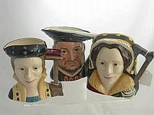Royal Doulton Character Jugs, including Henry VII
