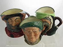 Royal Doulton Character Jugs, including Falstaff
