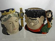 Royal Doulton Character Jugs, including 60th anni