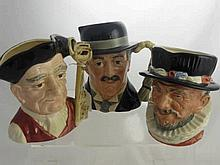 Royal Doulton Character Jugs, including Gaoler nr