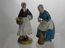Two Royal Doulton Figures, Country Lass HN1991, T