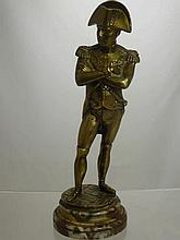 Antique Brass Figure of Napoleon, signed Guillime