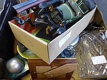 A Box containing miscellaneous items to include: