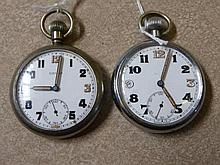 Two Gentleman's Military Issue Pocket Watches, on