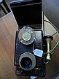 Mahogany Wall Phone with bakelite mouth piece,