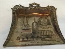 Antique 1933-1934 chicago worlds fair metal dust pan