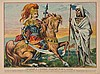 KONOVALOVA   The valiant soldier, 1902 Original Chroma/Lithograph 32 x 41 cm