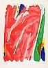 DEBRÉ  Olivier 1920-1999     Composition pour les JO 1992, lithographie signée et numérotée /250 au crayon par l'artiste-