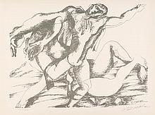 ZADKINE  Ossip 1890-1967    Combat avec l'Amazone Hippolyte Lithographie signée et numérotée /350-