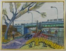 Stewart Stoleworthy Rhode Island Cityscape Painting