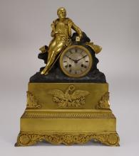 French Medaille d'or Gilt Bronze Napoleonic Clock