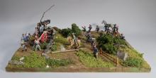 Civil War Diorama with Lead Soldier Battlefield