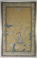 Chinese Silk Embroidery Textile of Two Beauties