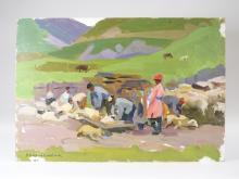 Vera Aleksandrovna Vladislavleva Sheep Painting