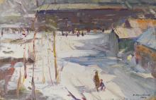 Juravev Nikiforovich Russian Winter Painting