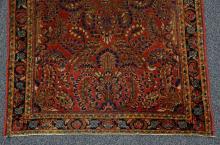 Sarouk throw rug, 3'4