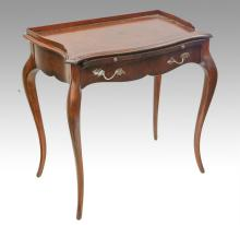 Maitland Smith serpentine shaped leather top provincial style writing desk, 32