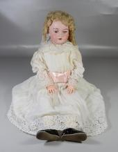 Armand Marseille bisque porcelain girl doll, marked