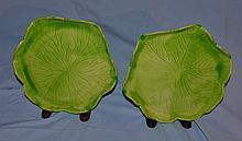 20 Jean Roger lettuce leaf plates, 9 1/2