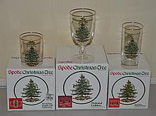 44 pieces of Spode Christmas Tree pattern glassware consisting of (16) 6