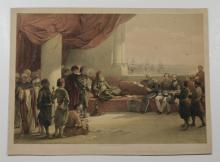 David Roberts (Scottish, 1796-1864) and Louis Haghe (Belgian, 1806-1885), lithograph, Interview with the Viceroy of Egypt, 15-1/4