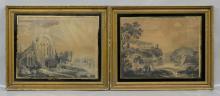(2) British School (18th/19th Century), watercolor, Landscapes and Drumana, 12-1/2