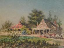 American School (19th Century), oil on board,