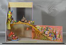 Red Grooms (American, b 1937), with assistance from Lysianne Luong and Mark Hooper, mixed media sculpture, Fairy Tale Scenes , signe...