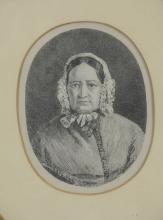 (4) American School (19th Century), mixed media portraits, largest14-3/4